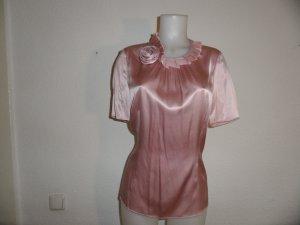 Bogner Bluse Seide/ Elastan Rosa Gr. L/ 40 Luxus Pur!