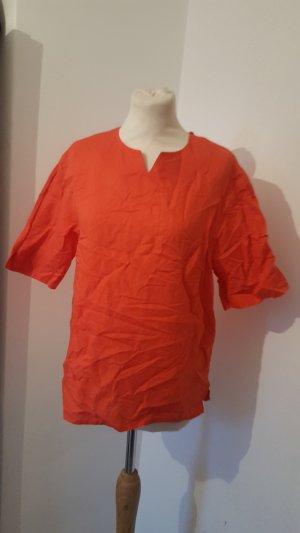 Bogner Damen Leinen Bluse Hemdshirt Größe 40 lachsrot