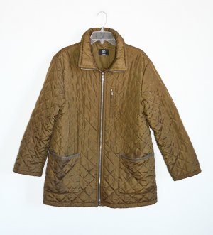Bogner Quilted Jacket olive green mixture fibre