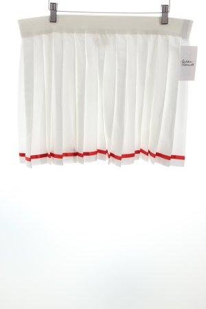 Bogner Faltenrock weiß-rot sportlicher Stil