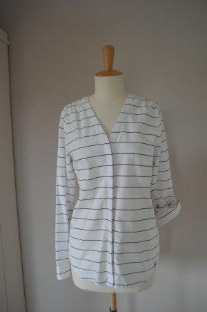 BOGNER FIRE + ICE Bluse Weiß mit breitem Streifen, Gr. 36 / S, NEU!!!