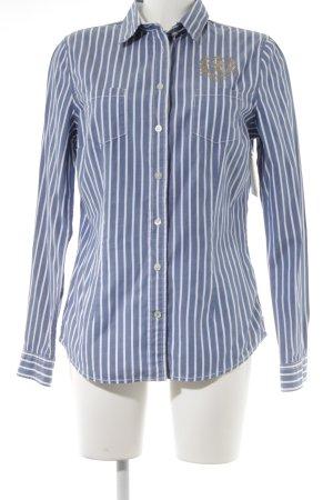 Bogner Fire + Ice Hemd-Bluse weiß-stahlblau Streifenmuster Business-Look