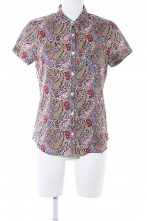 Bogner Fire + Ice Short Sleeve Shirt paisley pattern '90s style