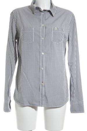 Bogner Fire + Ice Shirt met lange mouwen grijs-wit geruite print zakelijke stijl
