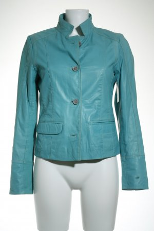Bogner Fire + Ice Lederjacke türkis Street-Fashion-Look