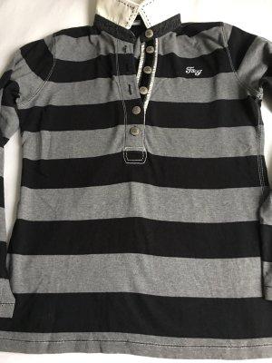 BOGNER FIRE&ICE Rugby Shirt Gr. 40, Grau/Schwarz Streifen