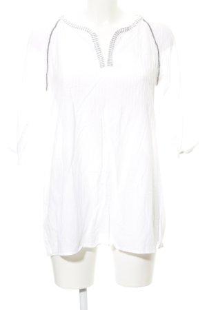 Bogner Fire + Ice Transparenz-Bluse weiß-silberfarben Casual-Look
