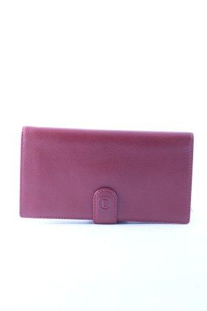 Bogner Geldbörse karminrot-silberfarben Eleganz-Look