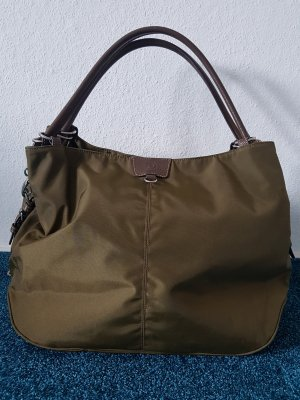 Bogner Carry Bag silver-colored-olive green nylon