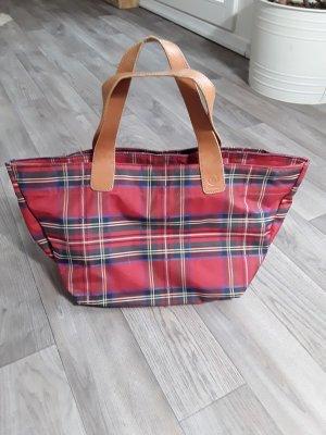 Bogner Handtasche, rot kariert