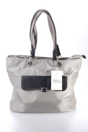 Bogner Handtasche schwarz-graubraun Logoprägung