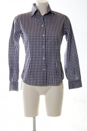 Bogner Shirt Blouse blue-white check pattern casual look