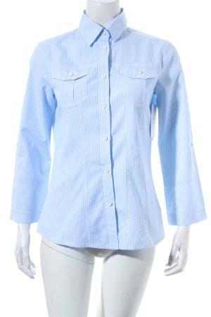 Bogner Hemd-Bluse hellblau-weiß Streifenmuster Business-Look