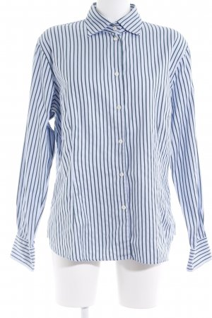 Bogner Hemd-Bluse himmelblau-dunkelgrün Streifenmuster Business-Look