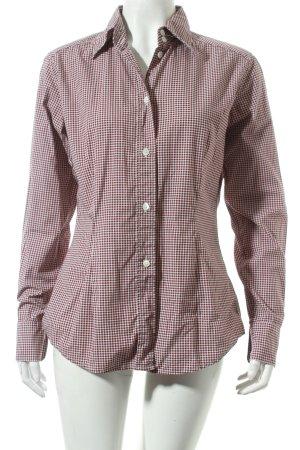 Bogner Hemd-Bluse weiß-braun Punktemuster klassischer Stil