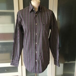 Bogner Shirt Blouse brown violet-brown red cotton