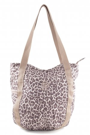 Bogner Carry Bag brown-natural white leopard pattern casual look