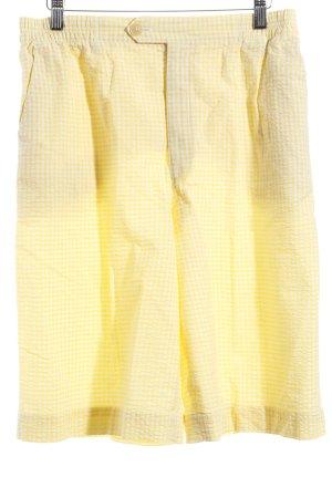 Bogner Pantalón corto de talle alto amarillo-blanco look casual