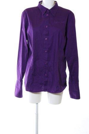 Bogner Jeans Hemd-Bluse lila Business-Look
