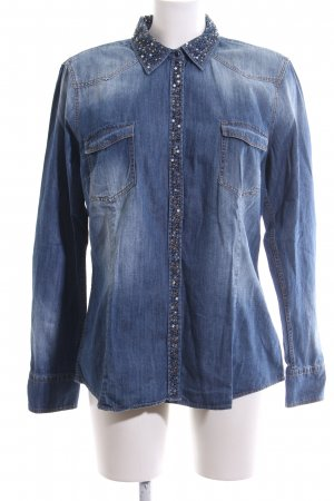 Bogner Jeans Denim Blouse blue casual look
