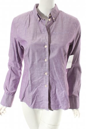 Bogner Jeans Langarm-Bluse lila-weiß Business-Look