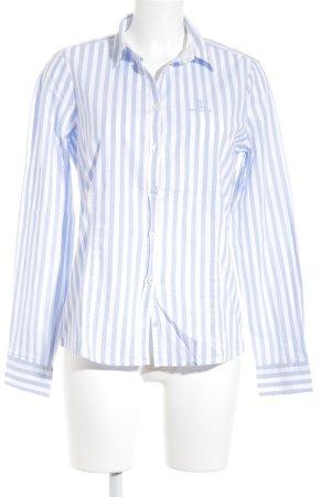 Bogner Jeans Langarmhemd weiß-himmelblau Streifenmuster Casual-Look