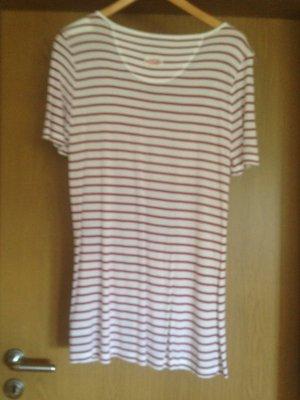 Bogner Jeans LongShirt Gr. 40 rot-weiß-geringelt
