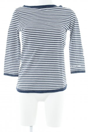 Bogner Jeans Longsleeve weiß-dunkelblau Streifenmuster Casual-Look