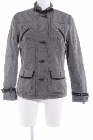 Bogner Jeans Outdoorjacke grau-schwarz Streifenmuster Casual-Look