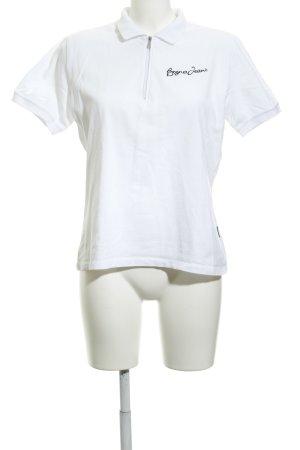 Bogner Jeans Polo-Shirt weiß-schwarz Casual-Look