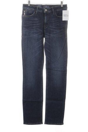 Bogner Jeans Slim Jeans dunkelblau-wollweiß Washed-Optik