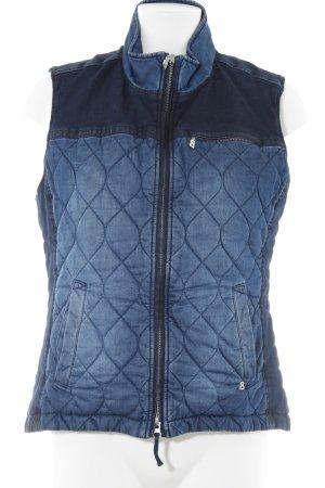 Bogner Jeans Smanicato trapuntato blu scuro-blu acciaio stile jeans