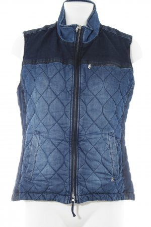 Bogner Jeans Steppweste dunkelblau-stahlblau Jeans-Optik