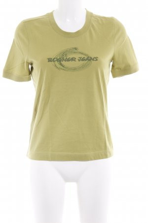 Bogner Jeans T-Shirt grasgrün Logoprint