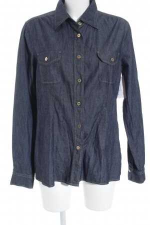 Bogner Camicia denim blu scuro stile classico