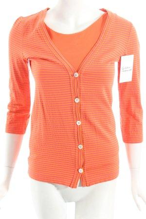 Bogner Twin set in jersey arancione-magenta motivo a righe stile classico