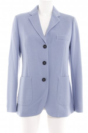 Bogner Short Blazer blue weave pattern business style