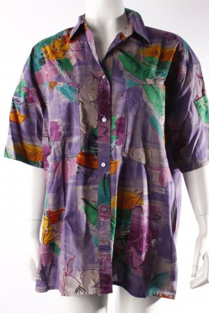 Bogner Short Sleeve Shirt Violet Pattern