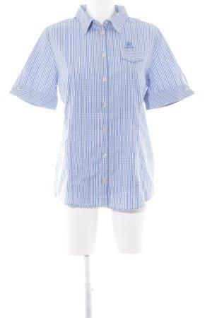 Bogner Shirt met korte mouwen geruite print zakelijke stijl