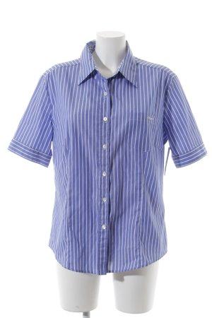 Bogner Kurzarmhemd weiß-blau Streifenmuster Casual-Look