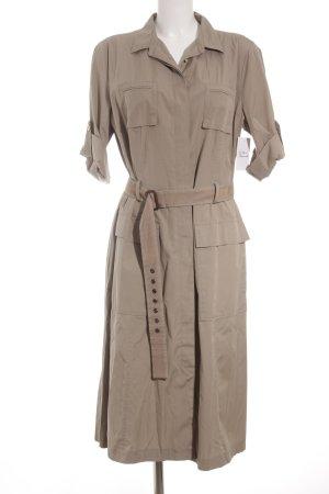 Bogner Kurzarmkleid beige Retro-Look