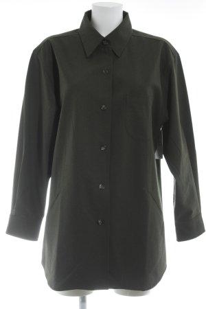 Bogner Camisa de manga larga caqui-verde oscuro look casual