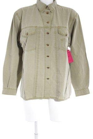 Bogner Shirt met lange mouwen olijfgroen militaire uitstraling