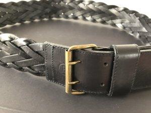 Bogner Cinturón de cuero negro Cuero