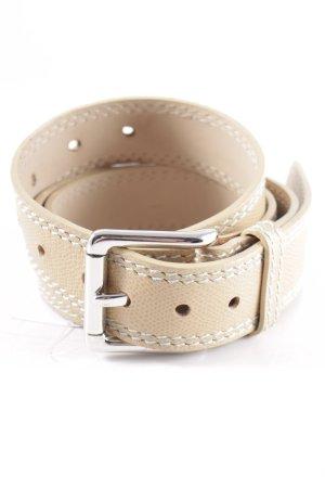 Bogner Cinturón de cuero beige-crema look casual