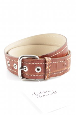 Bogner Leather Belt cognac-coloured animal pattern classic style
