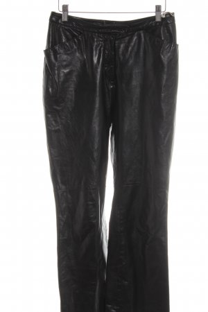 Bogner Leather Trousers black extravagant style