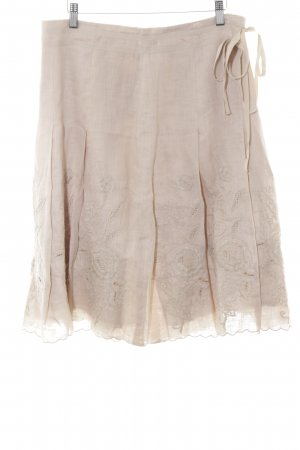 Bogner Jupe en lin beige clair style simple