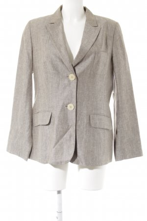 Bogner Long-Blazer weiß-camel abstraktes Muster Business-Look