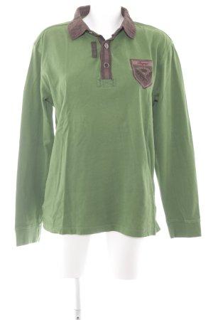 Bogner Longpullover waldgrün-schwarzbraun Street-Fashion-Look